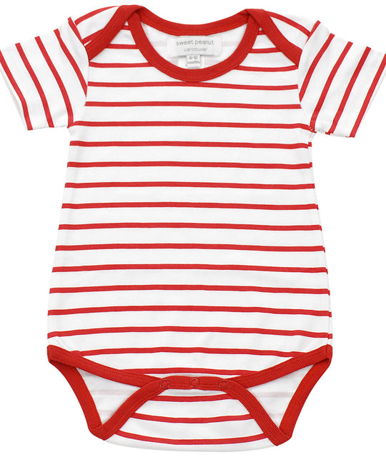 onesie in red marseille stripe