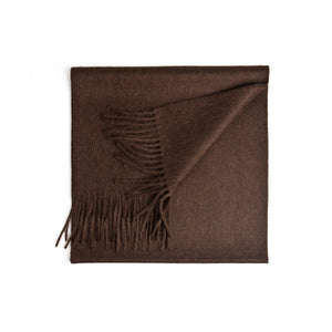 Signature Chocolate Baby Alpaca Scarf