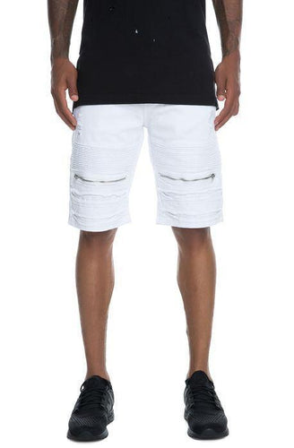Biker Shorts (White) - The Funding Ninjas