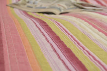 Load image into Gallery viewer, Lovely Stunning Stripes Red & Pink Reversible Quilted Coverlet Bedspread Set (DXJ101824)