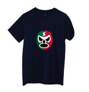Luchador Rojo + Verde - Red + Green Mexican Wrestler Men's T-Shirt