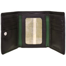 Load image into Gallery viewer, Dylan Compact Trifold Leather Wallet with ID Window - The Funding Ninjas