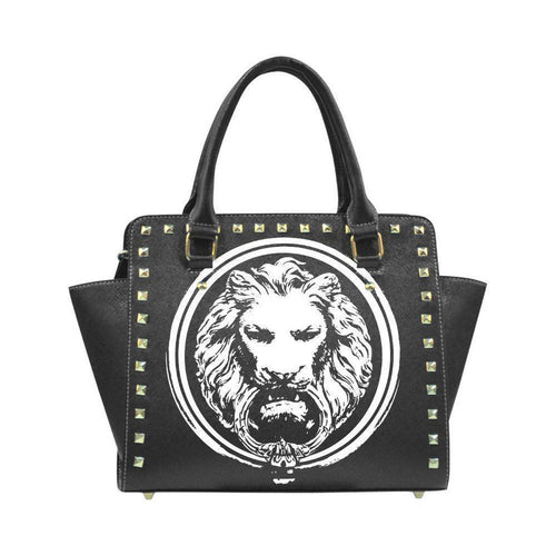 Womens Black Lion  Rivet Stud hand bag