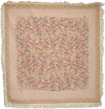 Load image into Gallery viewer, Woven Wildflower Wonderland Floral Beige Tan Square Shaped Tapestry Table Cloths