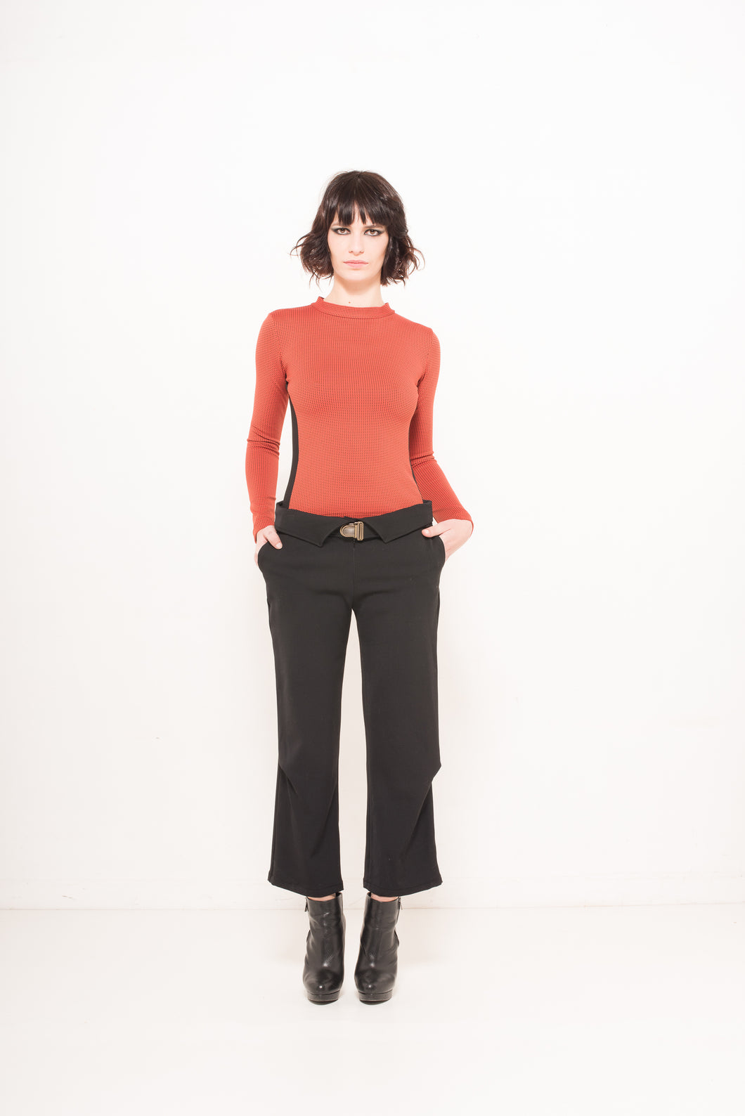 Collar cropped pants - The Funding Ninjas