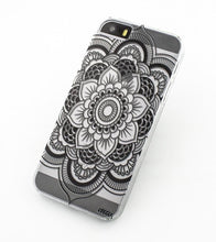 Load image into Gallery viewer, Black Henna Full Mandala - Clear TPU Case Cover - The Funding Ninjas