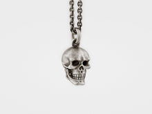 Load image into Gallery viewer, Skull Pendant with Hinged Jaw and Diamond Eyes in Sterling Silver