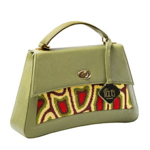 Load image into Gallery viewer, TATI BODUCH Designer Handbag, JASPER Collection, genuine leather: yellow, knitwear: green