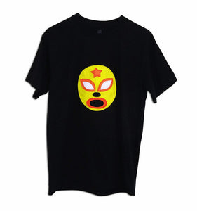 Luchador Amarillo - Yellow Mexican Wrestler Men's T-Shirt