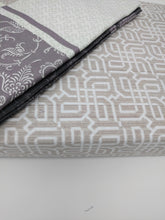 Load image into Gallery viewer, Elegant Jacquard Grey Floral Paisley Linen Fitted & Flat Sheets Set with Pillow Cases Sham Covers (FSFS8222) - The Funding Ninjas
