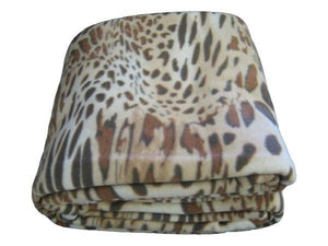 Brown Animal Leopard Cheetah Pattern Super Plush Soft Warm Large Polar Fleece Throw Blanket - The Funding Ninjas