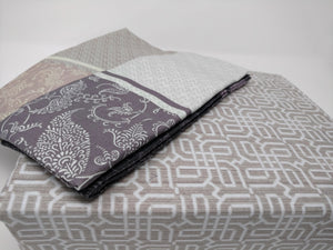 Elegant Jacquard Grey Floral Paisley Linen Fitted & Flat Sheets Set with Pillow Cases Sham Covers (FSFS8222) - The Funding Ninjas