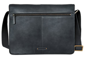 Aiden Leather Business Laptop Messenger Cross Body Bag - The Funding Ninjas