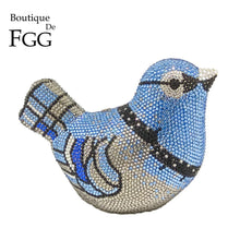 Load image into Gallery viewer, Boutique De FGG Crystal Bird Evening Clutch Bag For Women Fashion Handbags and Purses Mini Metal Wedding Bag Party Clutches