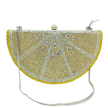 Load image into Gallery viewer, Boutique De FGG Fresh Fruit Lemon Slice Women Crystal Evening Bags Party Cocktail Purses and Handbags Ladies Gala Dinner Clutch