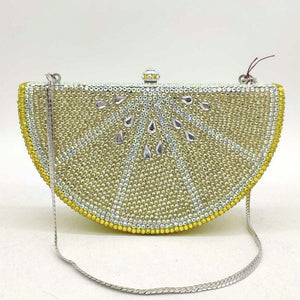 Boutique De FGG Watermelon Slice Women Crystal Clutch Evening Minaudiere Bags Party Cocktail Lades Diamond Purses and Handbags