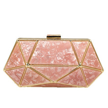 Load image into Gallery viewer, Boutique De FGG Women Evening Bags Metal Clutches Purses Formal Dinner Ladies Acrylic Box Clutch Chain Shoulder Bags