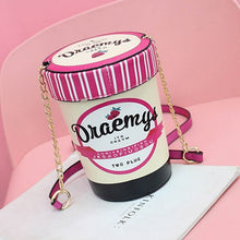 Load image into Gallery viewer, Boutique De FGG Lovely Design Strawberry Basket Small Ladies Shoulder Handbags and Purses PU Leather Casual Bucket Crossbody Bag