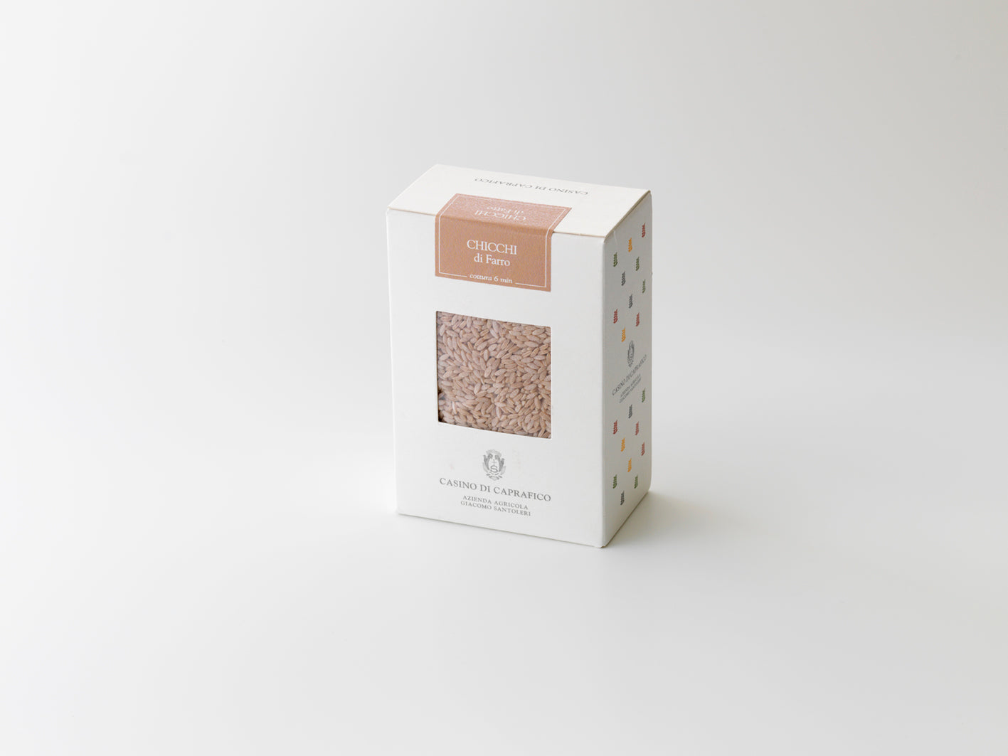 Caprafico Chicchi. Pasta 'grains' made from 100% Farro. 500g