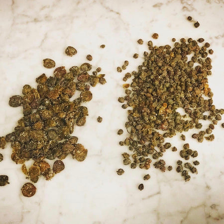 Large Salina Capers in Salt. 250g bag