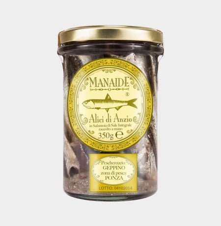 Alici Sotto Sale. Whole Anchovies in Salt. Net Weight 350g