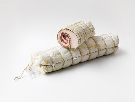 Pancetta Arrotolata. Minimum weight 250g