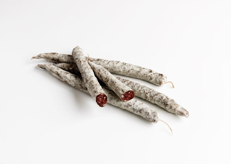 Saucisse Seche. Minimum weight 95g