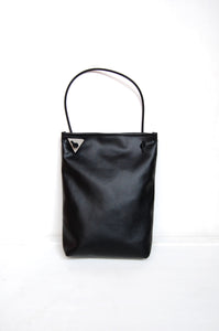 Minimal hobo bag in faux leather made by Melì