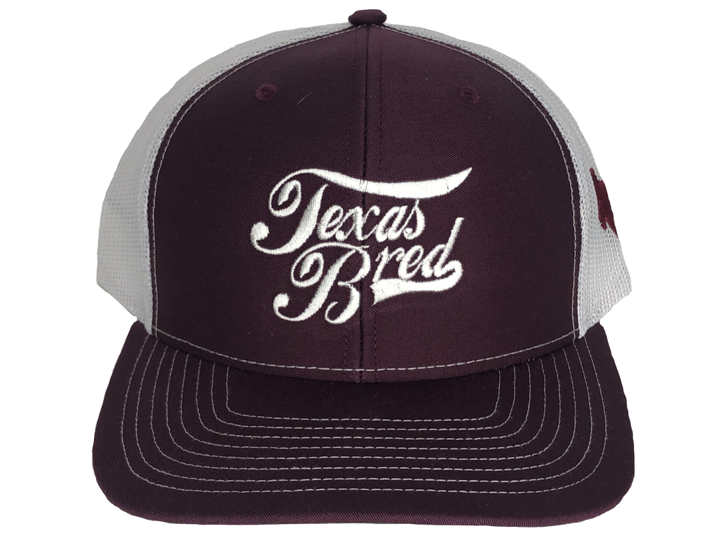 Maroon/White Stacked Logo