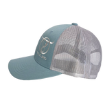 Smoke Blue/Aluminum Icon Cap