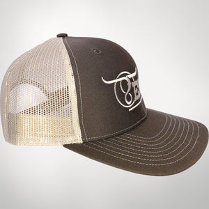 Brown/Khaki Center Full Logo Cap