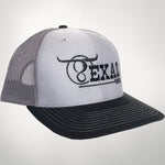 Grey/Charcoal  Black Center Full Logo Cap