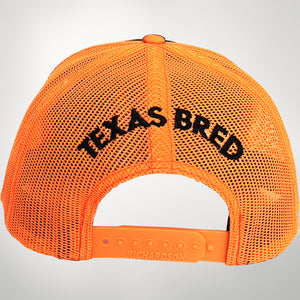 Inferno/Blaze Orange Center Icon Cap Texas Bred On Back