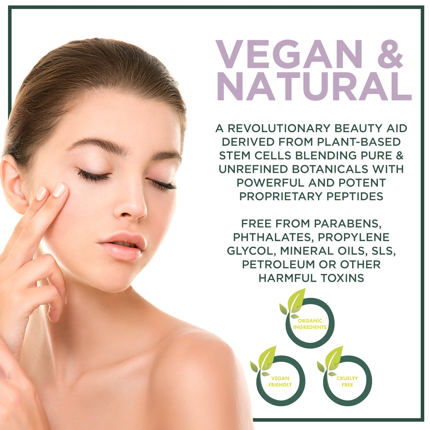 Ageless Eye Cream- Powerful Peptides and Collagen | Erase Signs of Aging | Vegan-NuOrganic Cosmetics