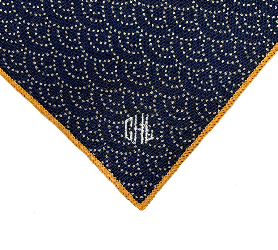 Monogram Charge - Russ Handkerchief
