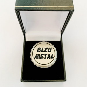 bague bleu metal chicandier