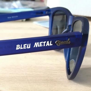 Lunette chicandier Bleu metal