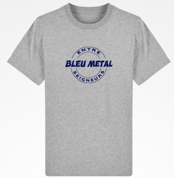 T Shirt bleu metal chicandier