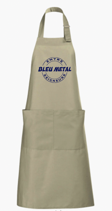 tablier bleu metal chicandier