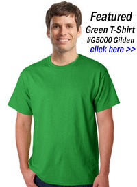 green t-shirts wholesale in bulk
