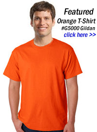orange t-shirts wholesale in bulk
