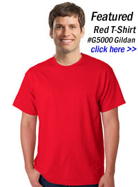 red t-shirts wholesale in bulk
