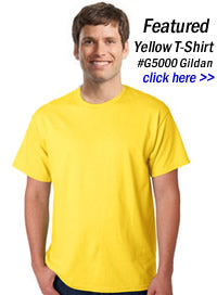 7795d9a7 Yellow T-Shirts | Wholesale Pricing on Blank Yellow Tee Shirts in ...