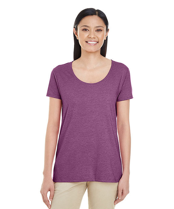 e626e0ba G6455L - Gildan Ladies Softstyle 4.5 oz. Deep Scoop Neck T-Shirt