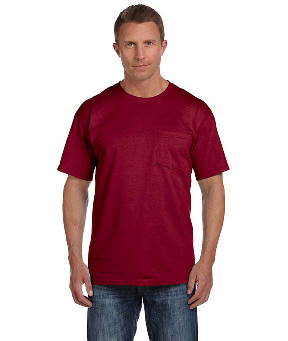 1eee558d Wholesale Blank 3930P Fruit of the Loom Adult Heavy Cotton Short-Sleeve w/ Pocket  T-Shirt — JonesTshirts