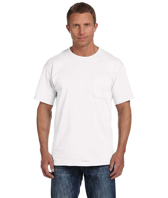 cbc7ab6e Home 3930P Fruit of the Loom 5 oz. 100% Heavy Cotton HD® Pocket T-Shirt.  White