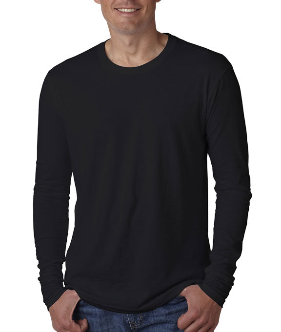 4033813fccf9 Home N3601 Next Level Mens Premium Fitted Long Sleeve Crew Neck T-Shirt.  Black