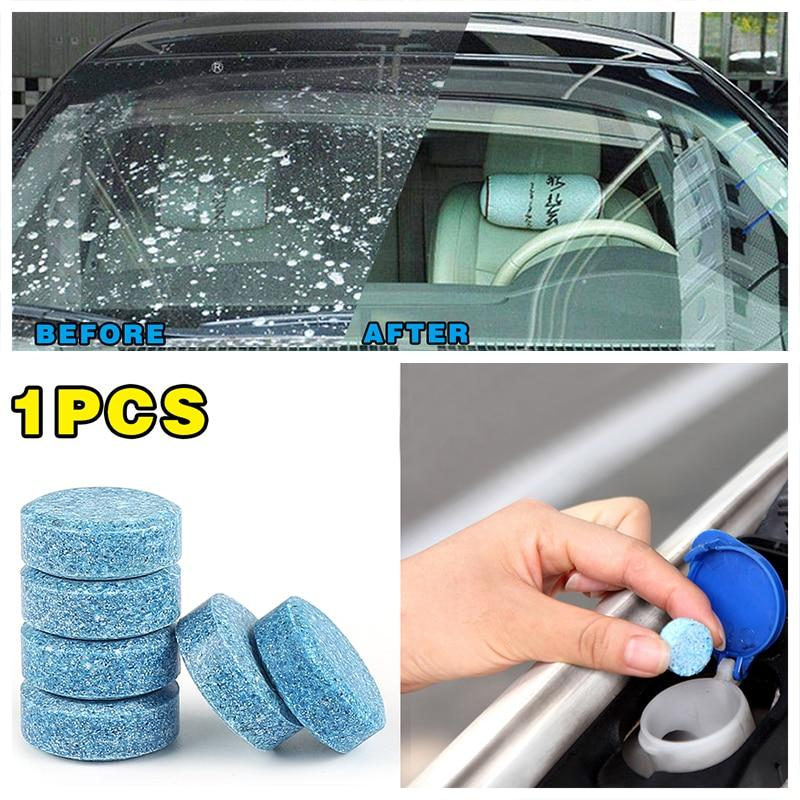 Car Front Glass Cleaning Water Solid Effervescent Tablets(1 Piece = 4L Water)