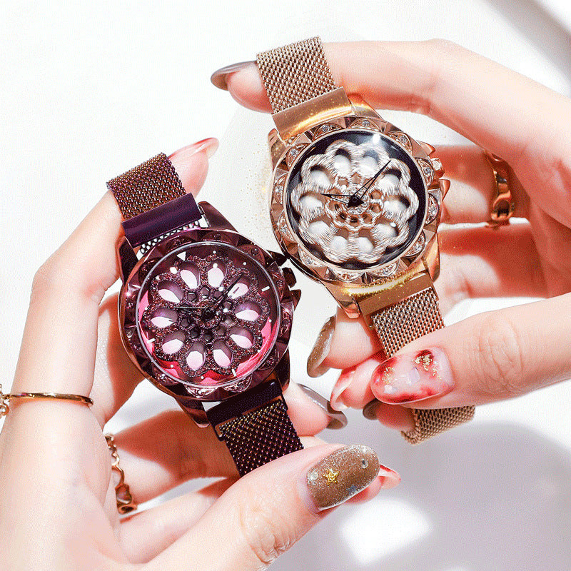 2019 Women New Star Rotating Watch