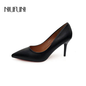 Fashion PU Leather High Heels Women Pumps